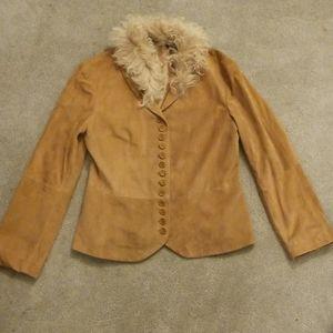 Vintage oleg cassini tan suede jacket